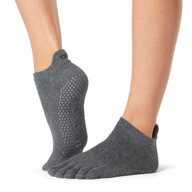 Toesox Low Rise Grey Small